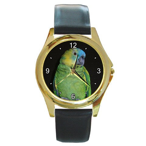 Blue Fronted Amazon Gold-Tone Watch