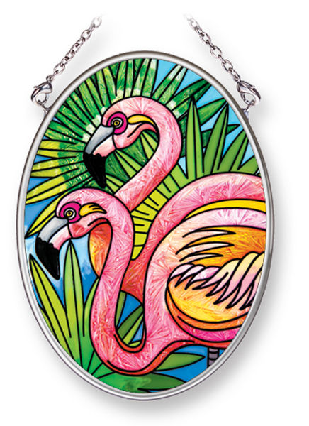 Flamingo Stained Glass Art