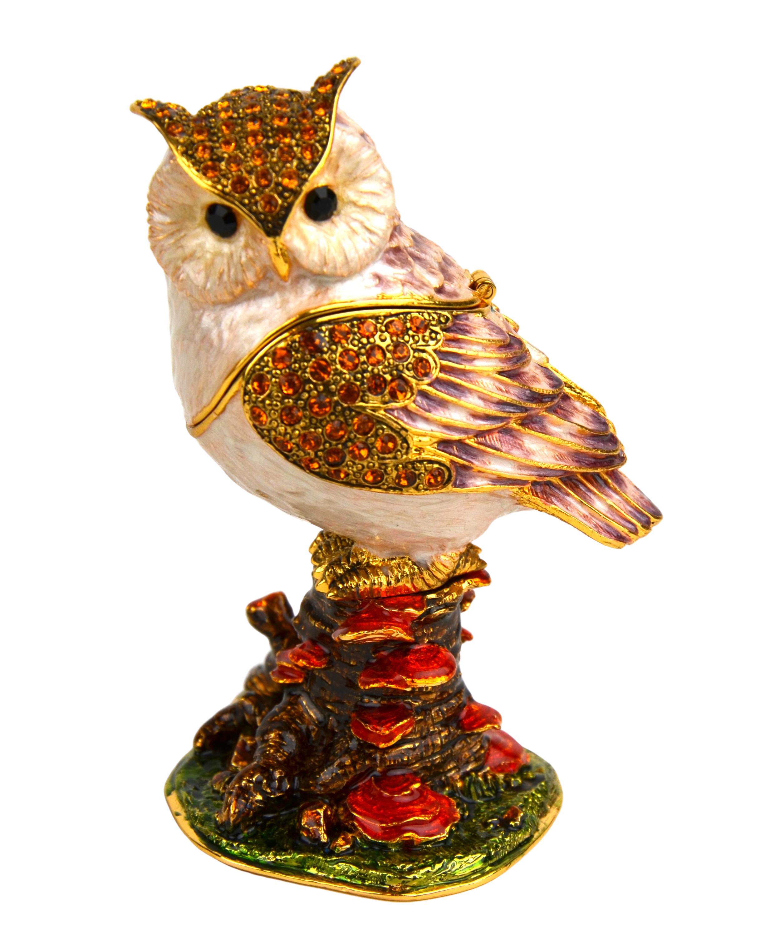 Horned Owl Trinket Box