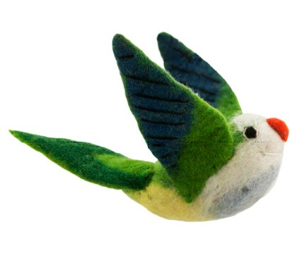 Monk Parakeet Woolie Ornament