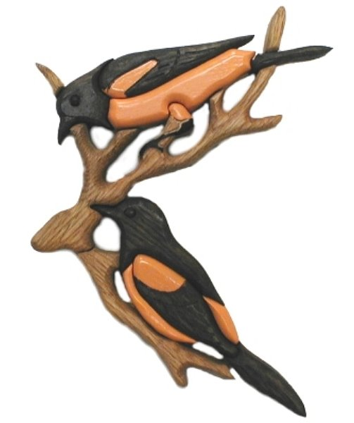 Orioles Oak Wall Plaque