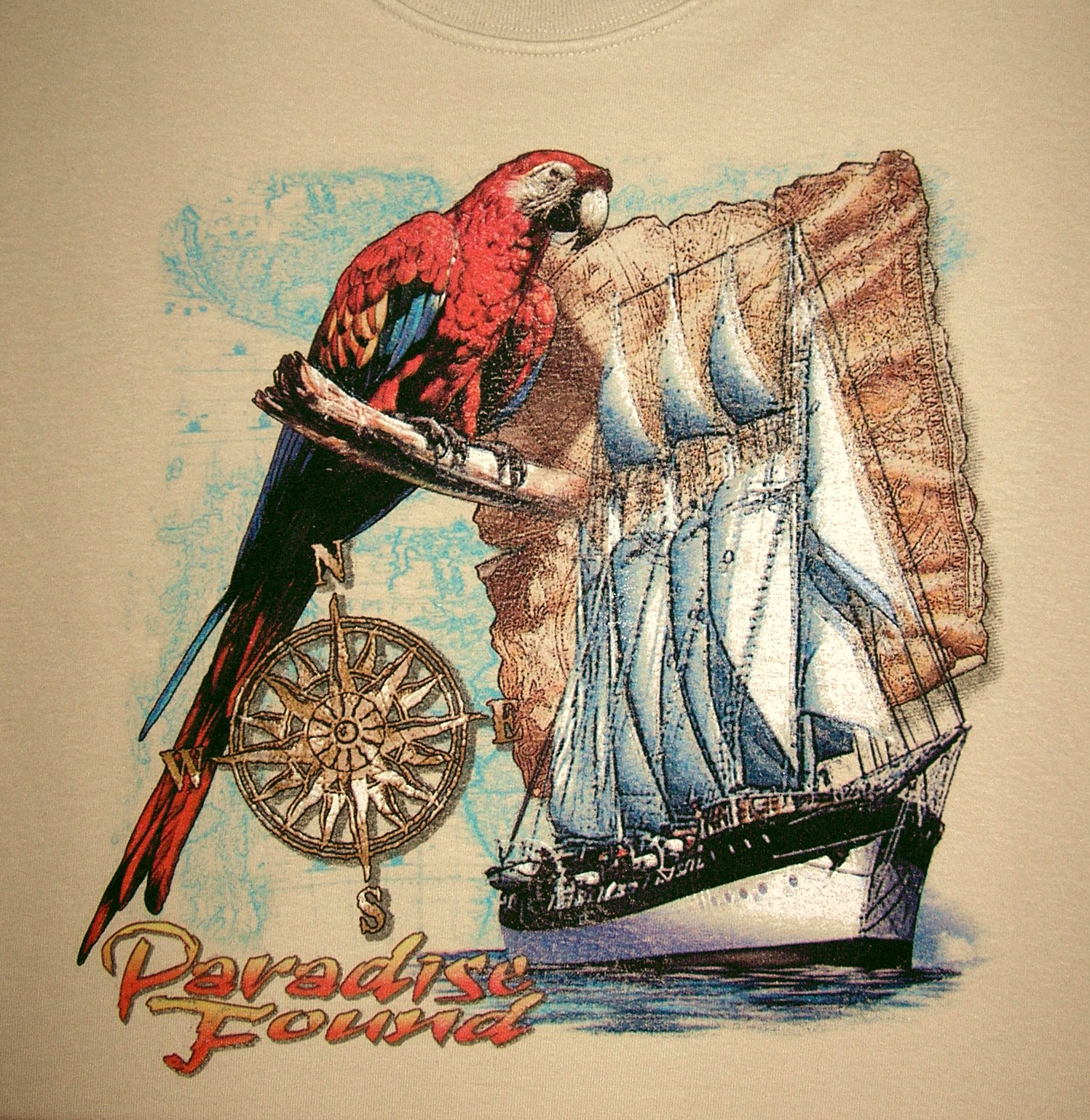 Paradise Found Scarlet Macaw T-Shirt