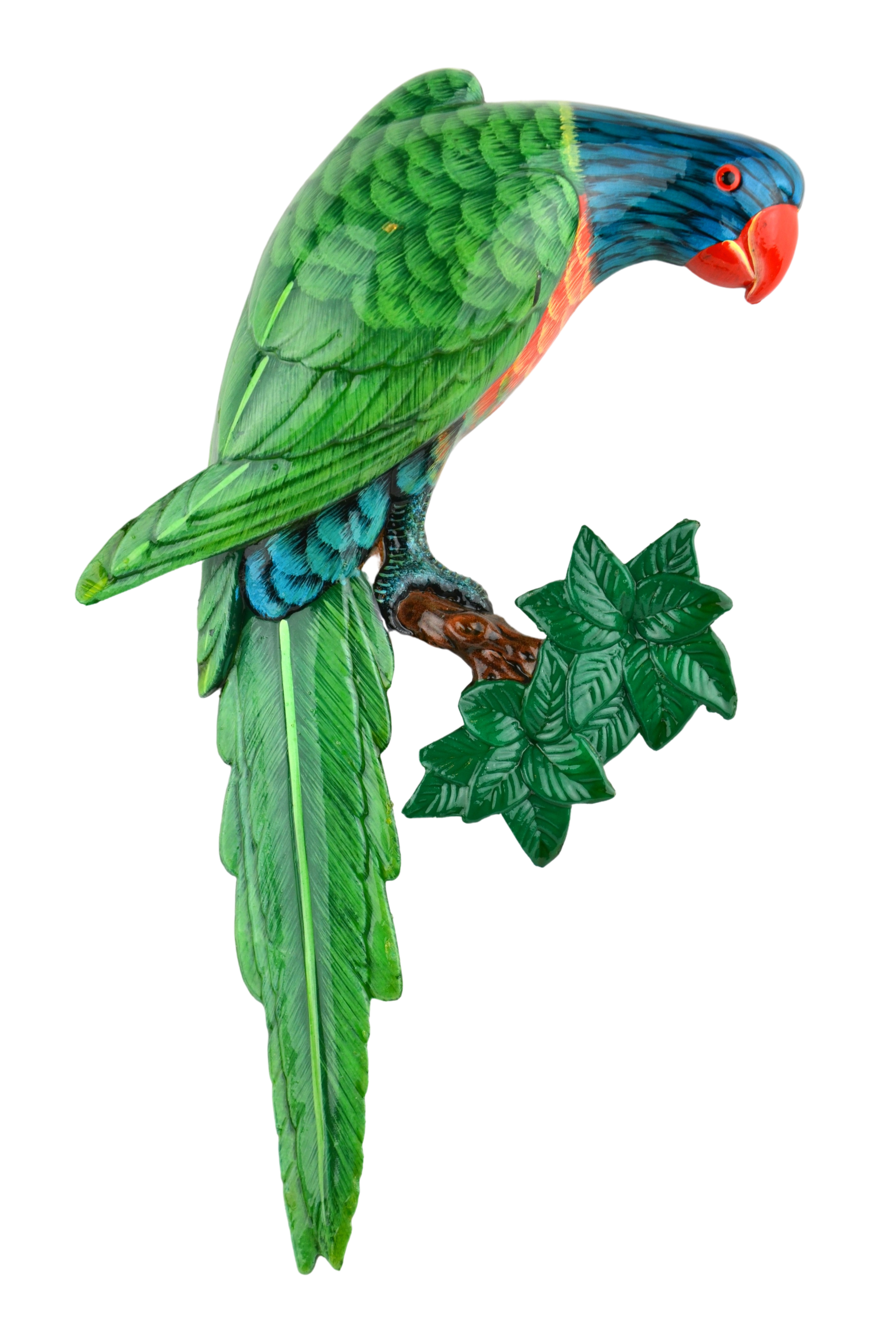 Small Lory Wall Plaque - Facing Right