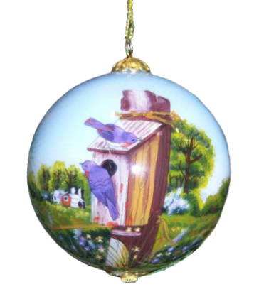Summer Bluebirds Ornament