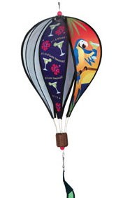 5 O'Clock Somewhere Parrots Hot Air Balloon