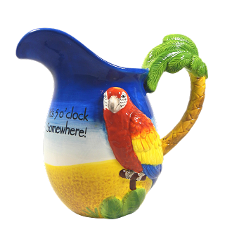 5 O'clock Somewhere Parrot Pitcher