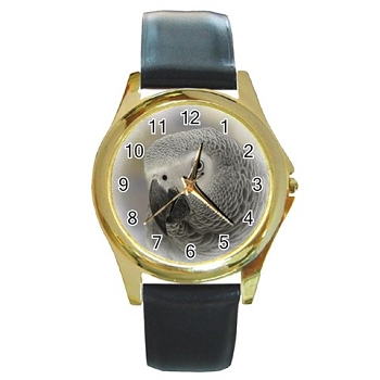 African Grey Gold Watch