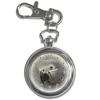 African Grey Key Chain Watch