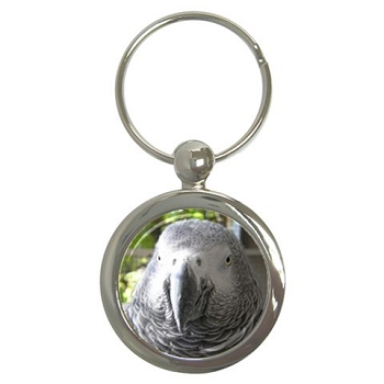 African Grey Key Chain