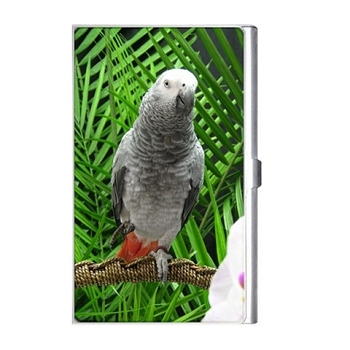 African Grey Parrot Card Holder