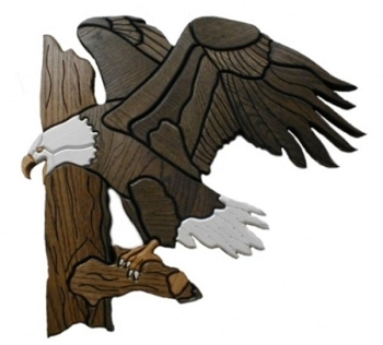 Bald Eagle Oak Wall Plaque