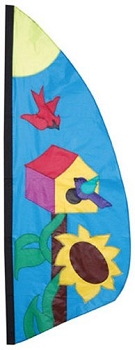 Birdhouse Feather Banner