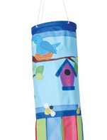 Birds and Birdhouses Deluxe Windsock