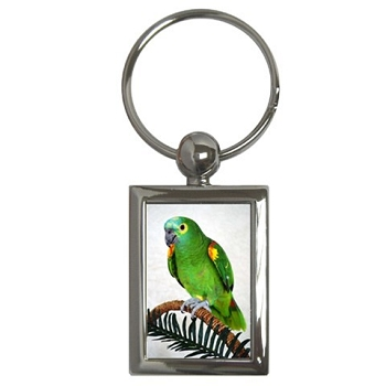 Blue Front Amazon Parrot Key Chain