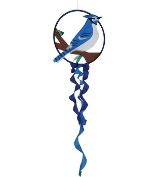 Blue Jay Dreamcatcher Wind Spinner