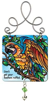 Blue and Gold Macaw Suncatcher