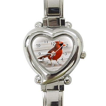 Cardinal Ladies Heart Watch