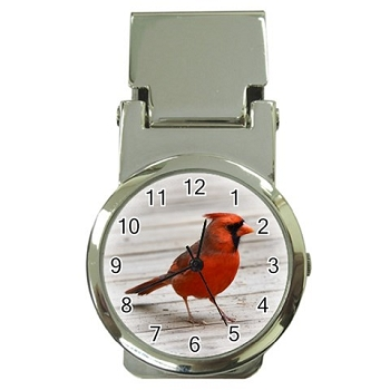 Cardinal Money Clip Watch