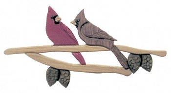 Cardinals Oak Wall Plaque