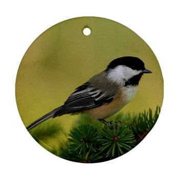 Chickadee Porcelain Ornament