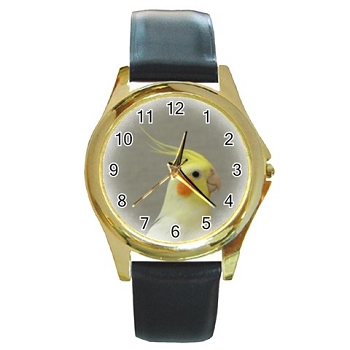 Cockatiel Gold-Tone Watch