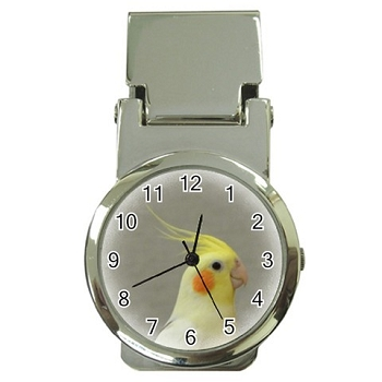 Cockatiel Money Clip Watch