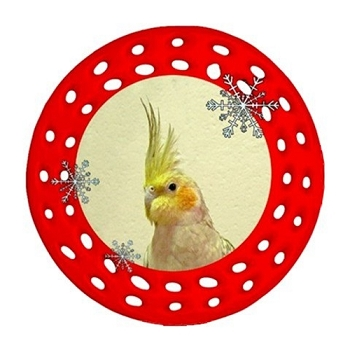 Cockatiel Porcelain Filigree Ornament