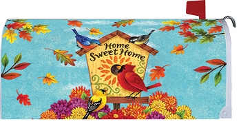 Fall Songbirds Mailbox Cover