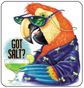 Got Salt? Macaw Mouse Pad