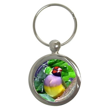 Lady Gouldian Finch Key Chain