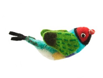 Gouldian Finch Woolie Ornament