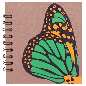 Green Butterfly Notebook