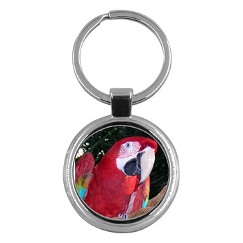 Green-wing Macaw Key Ring