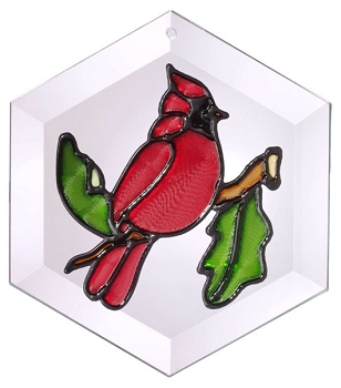 Hexagon Cardinal Suncatcher