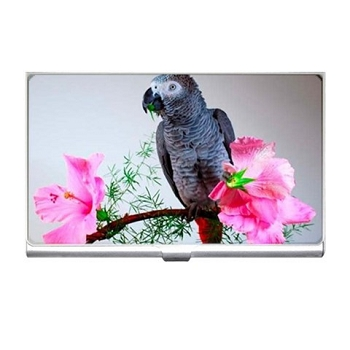 Hibiscus African Grey Card Holder