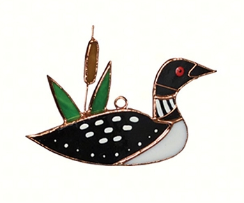Loon Stained Glass Suncatcher
