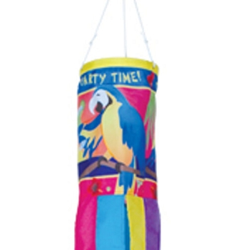 Party Time Parrots Windsock