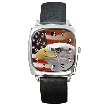 Patriotic Eagle Square Watch