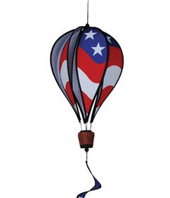 Patriotic Hot Air Balloon with Twister Tail