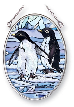 Penguins Stained Glass Art