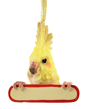 Personalizable Cockatiel Ornament