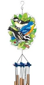 Songbirds Stained Glass Wind Chime