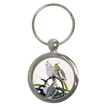 Three Cockatiels Key Chain