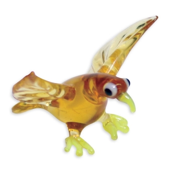 Tiny Glass Hawk Figurine