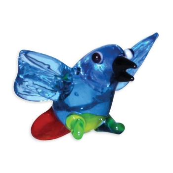 Tiny Glass Macaw Figurine