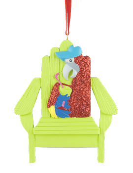 Parrot Adirondack Chair Ornament