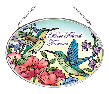 Best Friends Forever Hummingbird Suncatcher