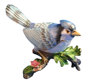 Blue Jay Trinket Box