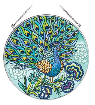 Blue Peacock Suncatcher