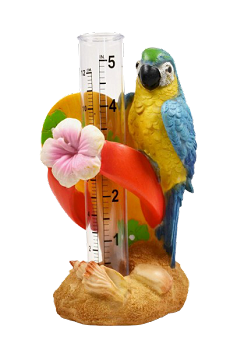 Blue and Gold Macaw Rain Gauge
